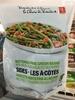 Haricots verts fins au beurre avec pois et poivrons rouges grillés - Product