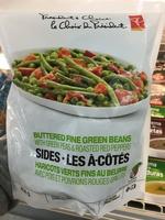 Haricots verts fins au beurre avec pois et poivrons rouges grillés - Produit - fr