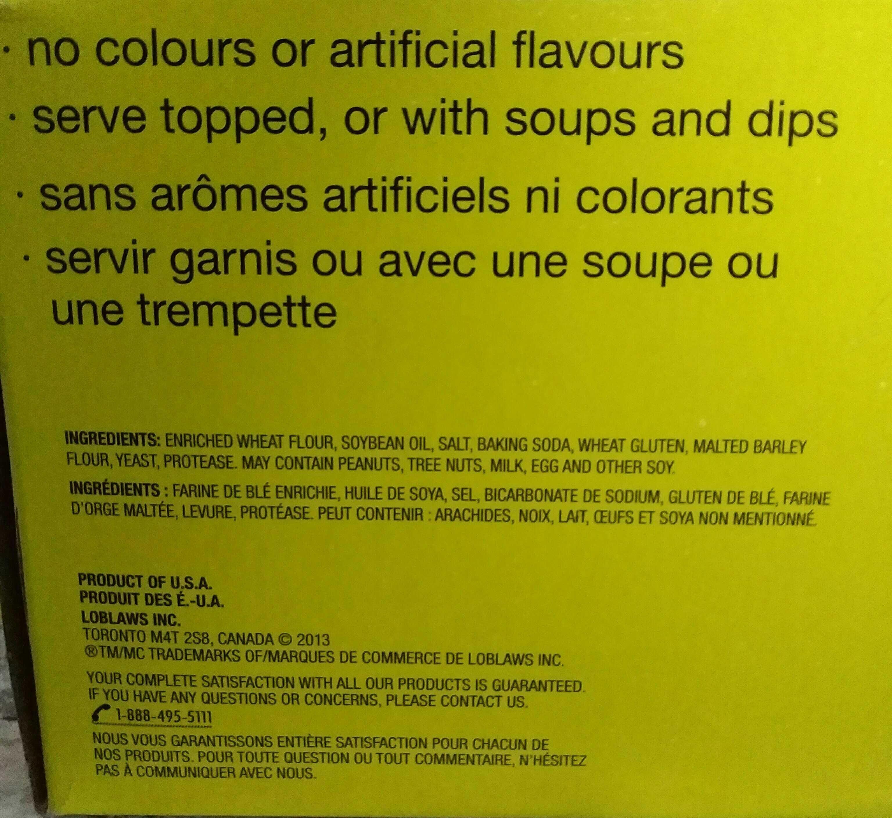 Biscuits soda salés - Ingrédients - en