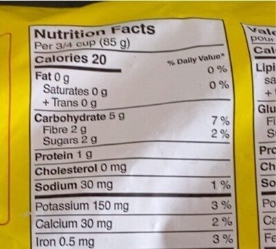 California blend - Informations nutritionnelles - en