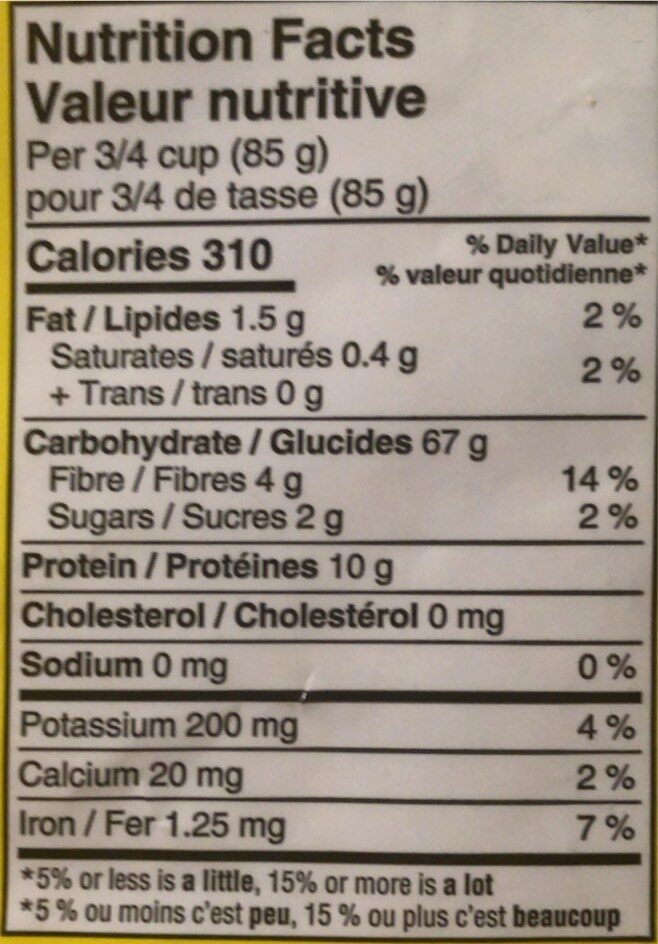 Elbow Macaroni ( Club Pack ) - Informations nutritionnelles - en