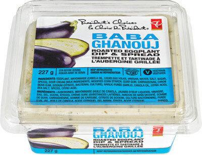 Baba ghanouj roasted eggplant dip & spread - Produit - fr