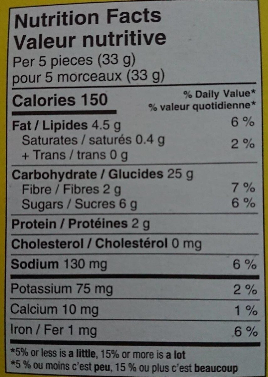 biscuits graham miel - Nutrition facts - en