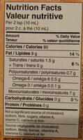 Splendido cold-pressed extra virgin olive oil - Informations nutritionnelles