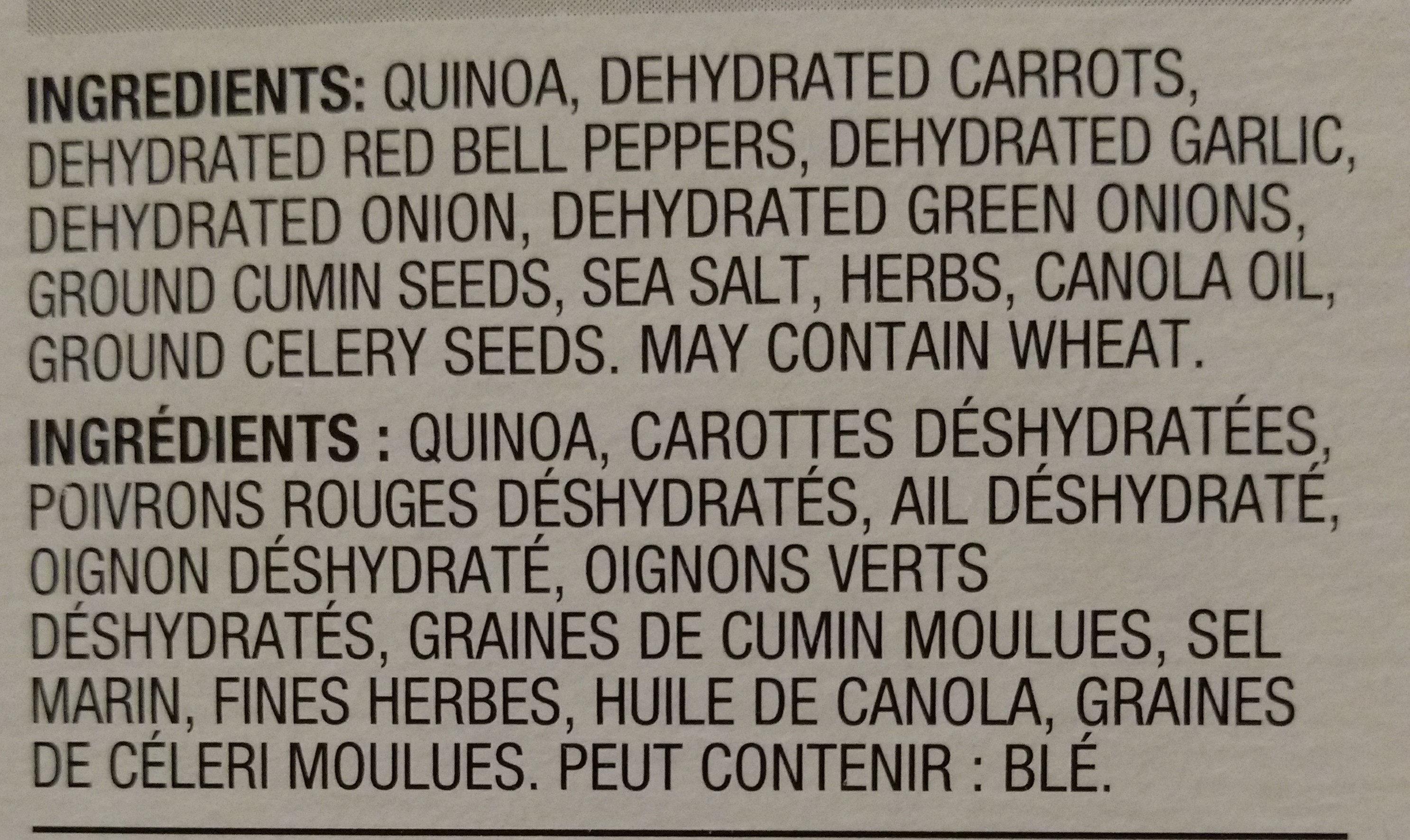 Quinoa - Vegetables. Legumes - Ingrédients - en
