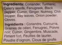 Poudre de cari - Ingredients - en
