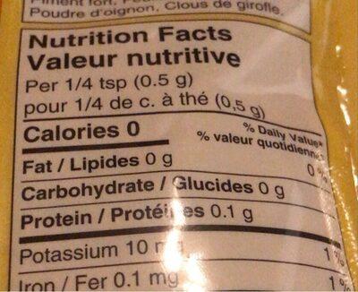 Poudre de cari - Nutrition facts - en