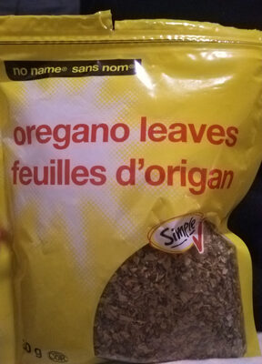 Oregano leaves - Product - en