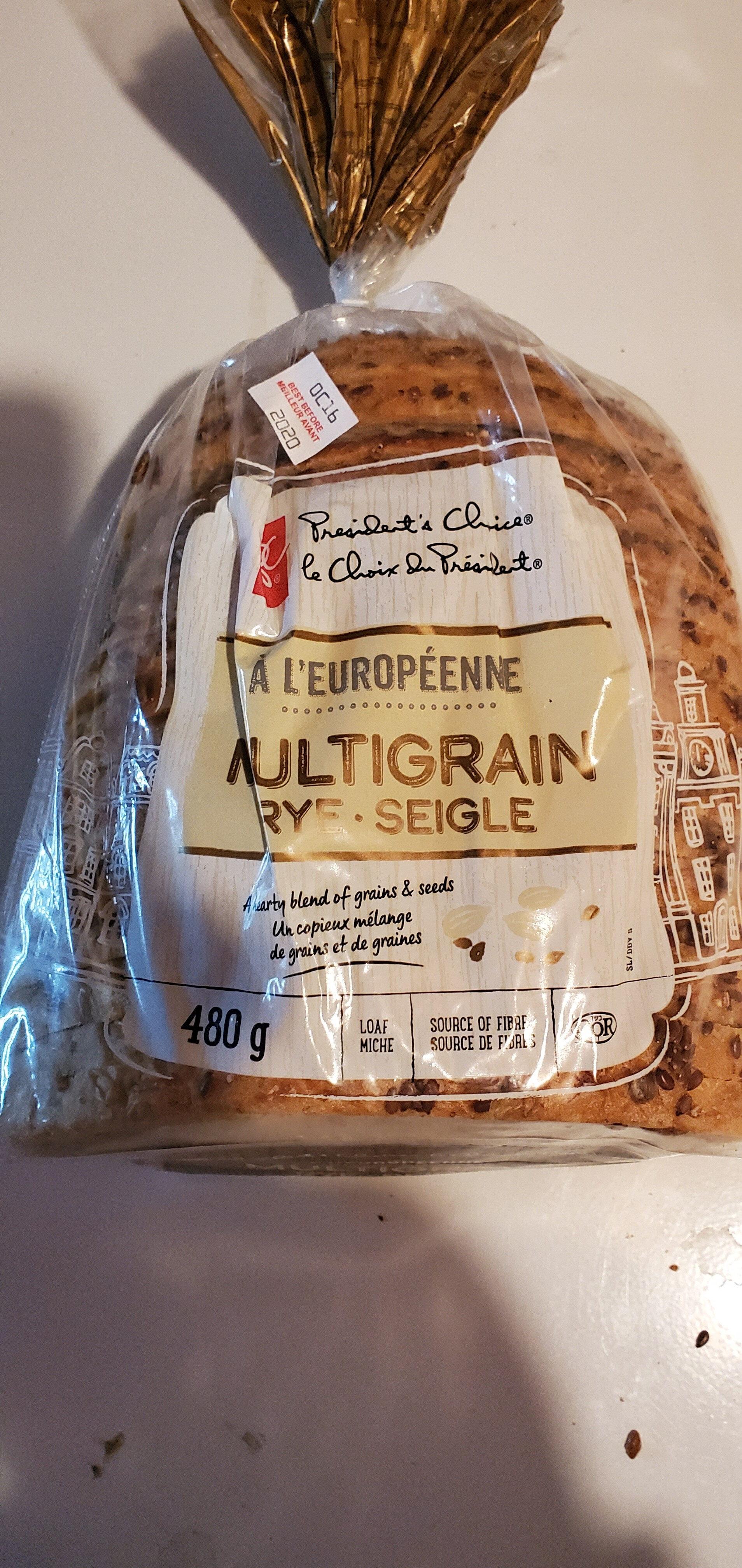 À l'européenne multigrain rye loaf - Ingredients - en