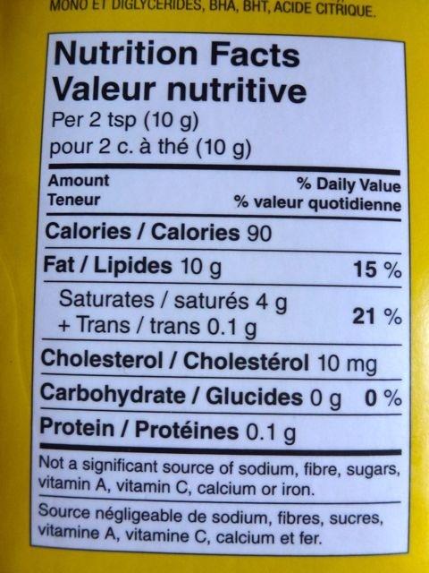 Shortening all vegetable - Informations nutritionnelles - en