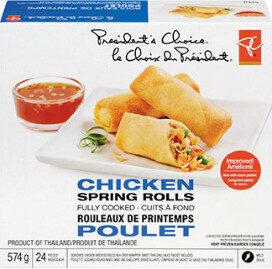 Chicken spring rolls - Produit - en
