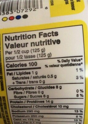 Fromage cottage - Nutrition facts - en