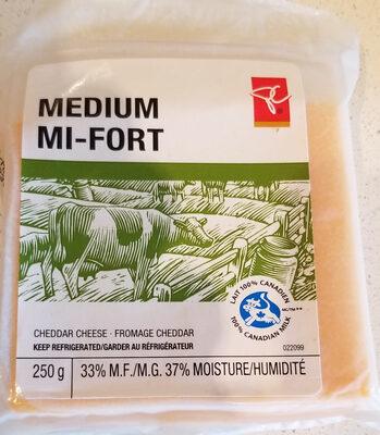 medium Cheddar cheese - Produit - en