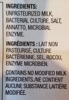 medium Cheddar cheese - Ingrédients - en