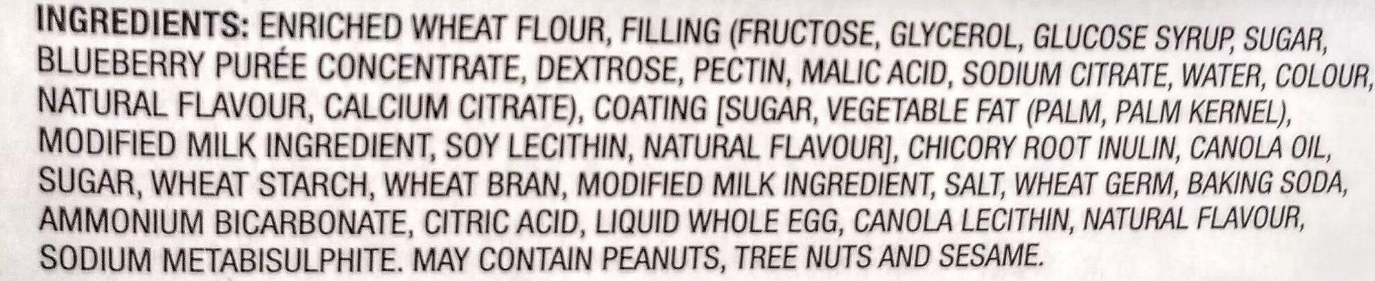 Crispy Snacks with Blueberry Filling - Ingredients - en