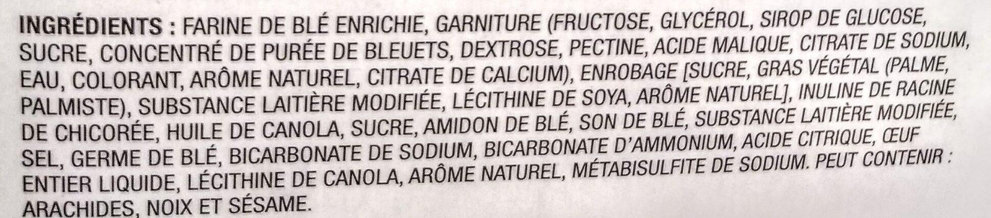 Crispy Snacks with Blueberry Filling - Ingrédients - fr