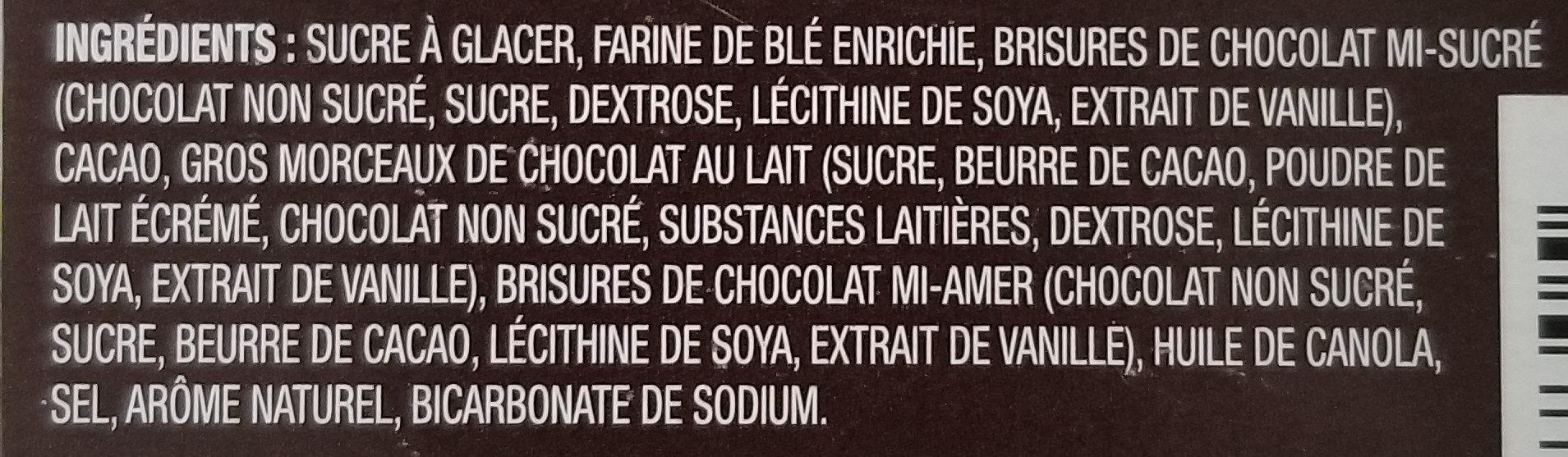 mélange à brownies triple chocolat - Ingrediënten - fr