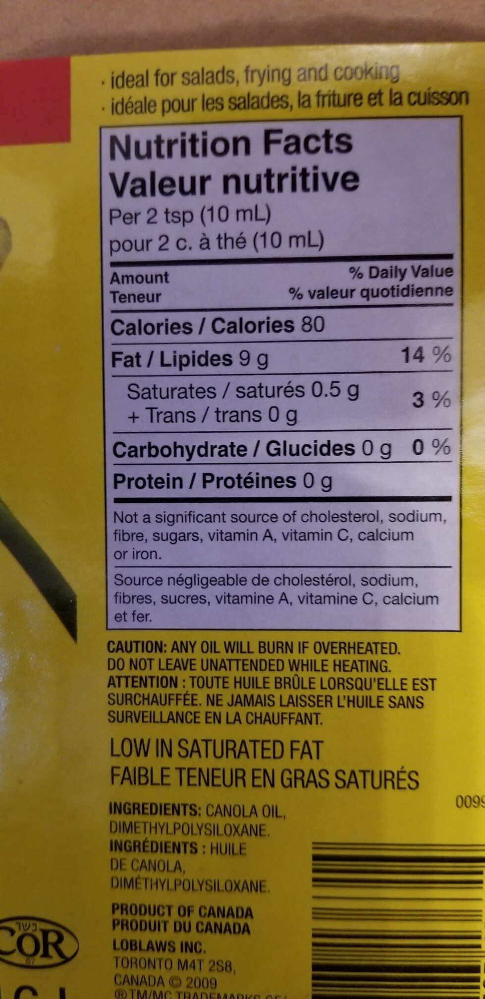 canola oil - Ingredients - en