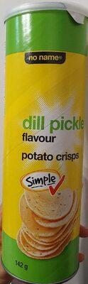 Dill pickle flavour potato crisps - Produit - fr