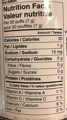 Brocoli et chou frisé - Nutrition facts - fr