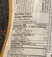 Chipotle ranch dressing - Nutrition facts - fr