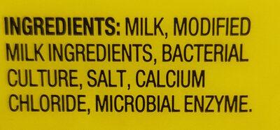 Pizza Mozzarella Cheese - Ingredients