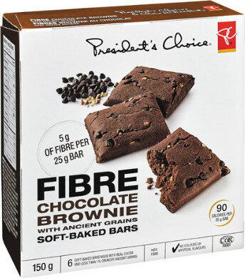 Fibre chocolate brownie with ancient grains soft-baked bars - Product - fr