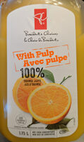 With pulp orange juice not from concentrate - Product - en