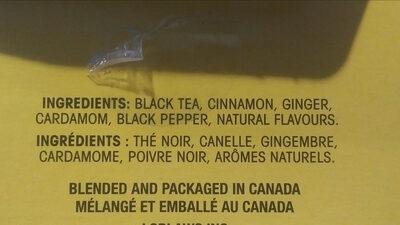 Masala spiced black tea - Ingrédients - en