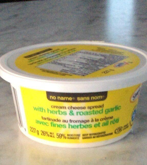 Tartinade au fromage a la creme avec fines herbes et ail roti - Produit - fr