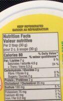 Tartinade au fromage a la creme avec fines herbes et ail roti - Informations nutritionnelles - fr
