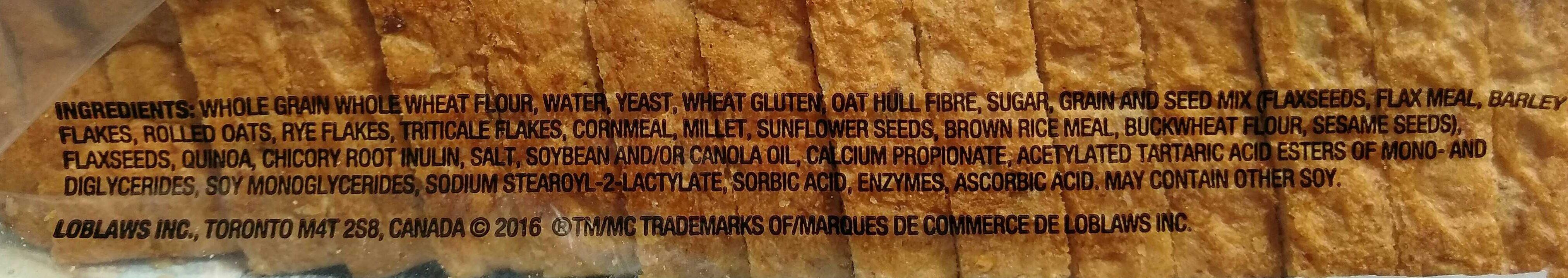 Multigrain with Quinoa Loaf - Ingredients
