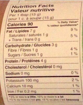 Beurre d'arachide crémeux - Informations nutritionnelles - fr