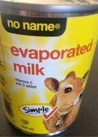 Evaporated milk - Produit - en