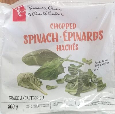 Epinards hachés - Produit - en