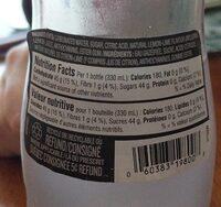 Pink lemonade sparkling beverage - Informations nutritionnelles - fr