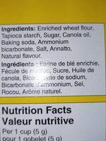 no name ice cream cups - Ingredients - en