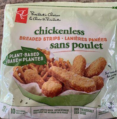 Lanières panées sans poulet - Produit - en