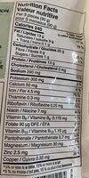 Lanières panées sans poulet - Informations nutritionnelles - en