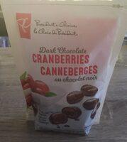 Dark Chocolate Cranberries - Product - fr