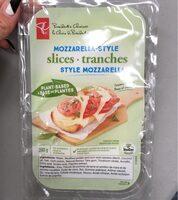 Mozzarella-style slices - Produit - fr