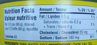 flaked light tuna - Nutrition facts