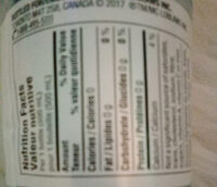 natural spring water - Nutrition facts - en