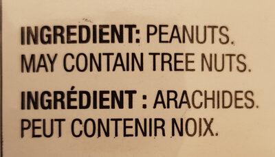 unsalted peNuts - Ingredients