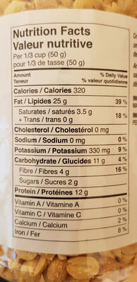 unsalted peNuts - Nutrition facts