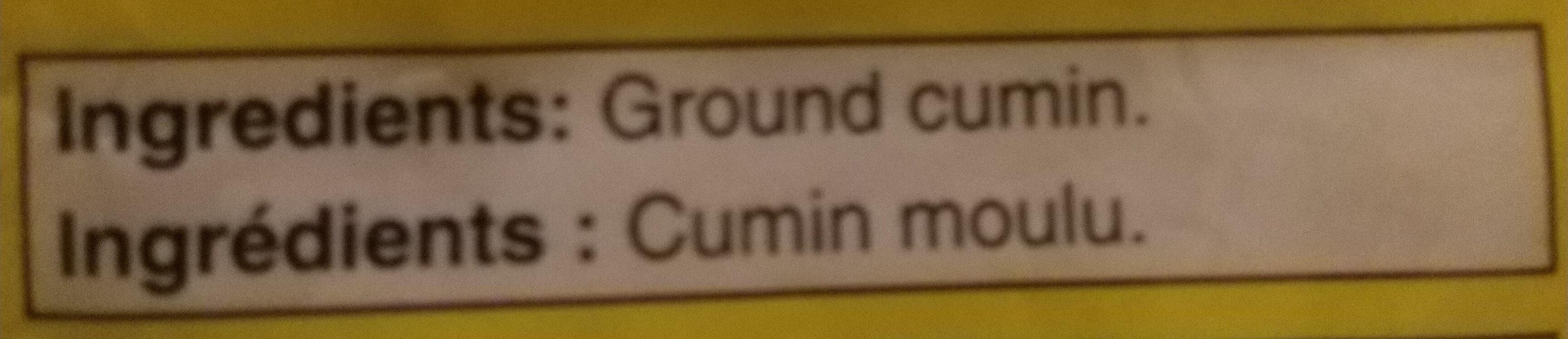 Ground cumin - Ingredients - en