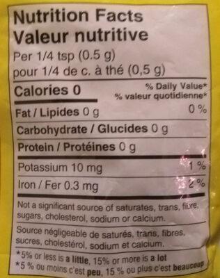 Ground cumin - Nutrition facts - en