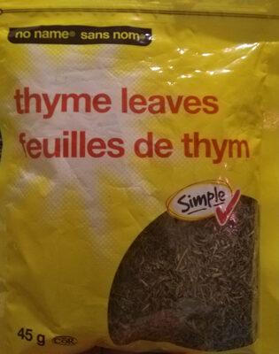 Feuilles de thym - Product - fr