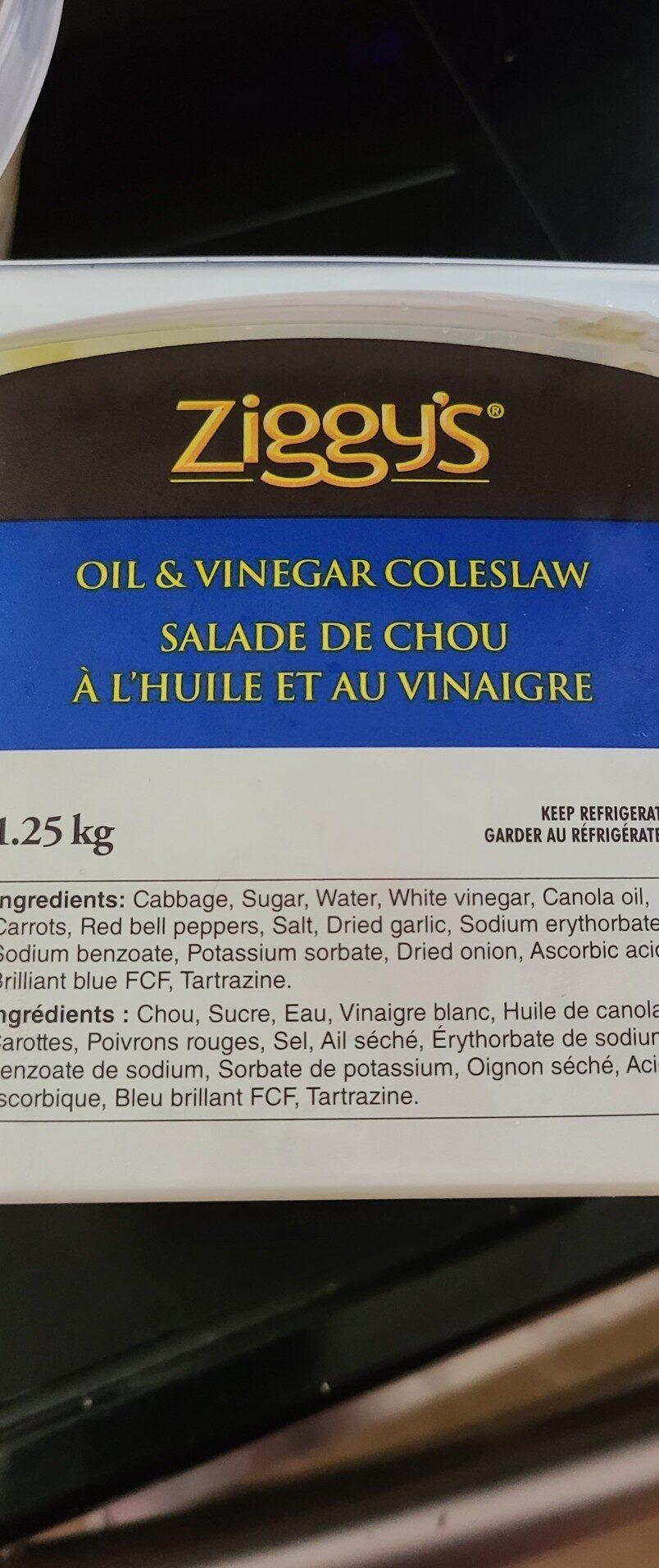 ziggys oil and vinegar coleslaw - Ingrédients - en