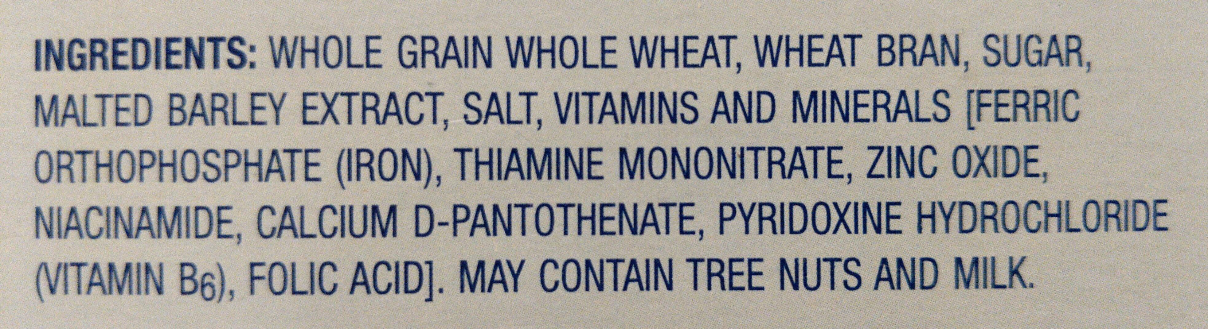 Bran flakes cereal - Ingredients - en